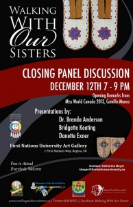 Poster that gives info about closing panel discussion