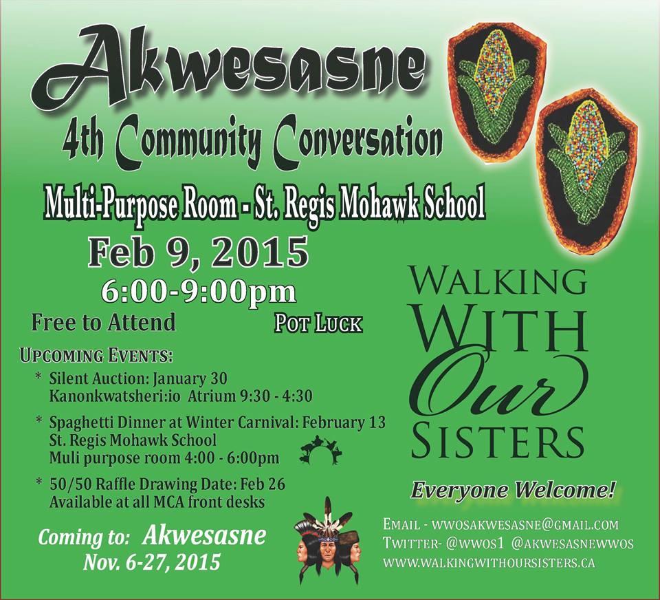 Akwesasne Community Conversation Poster