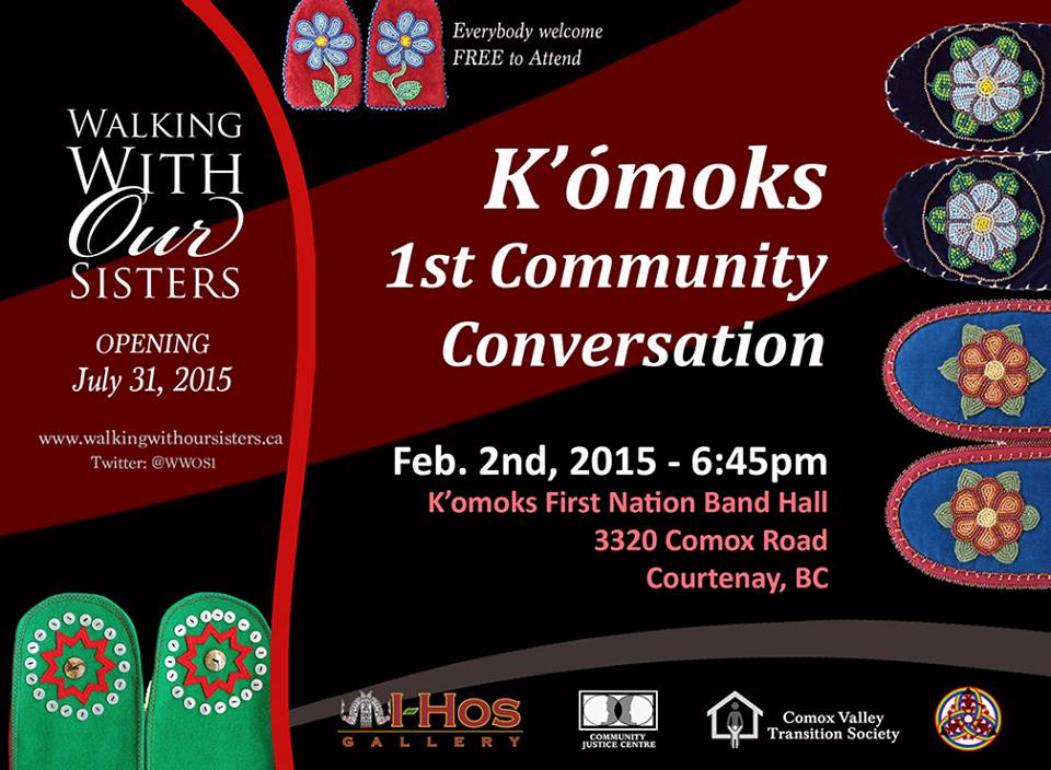 poster for Community Conversation 1 and the info for event