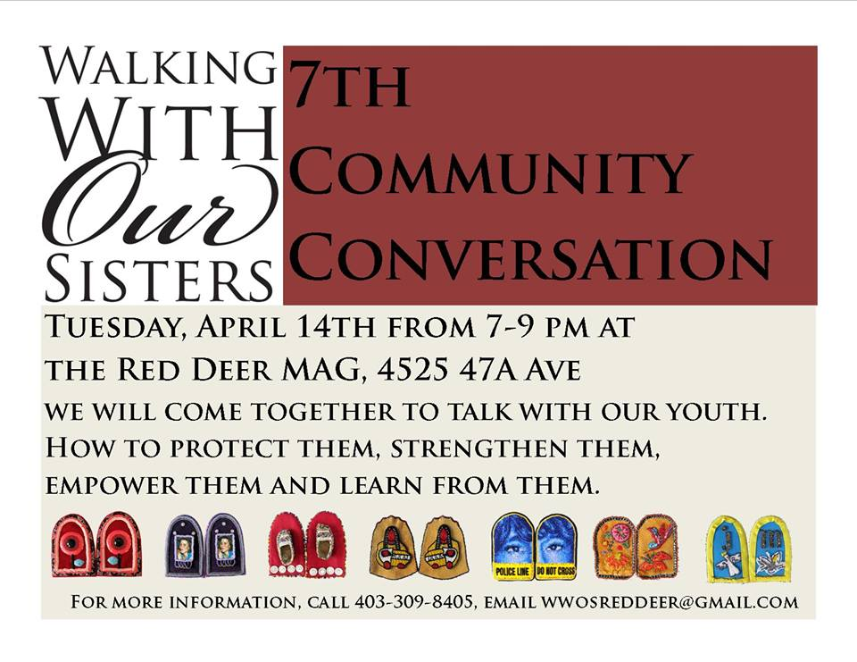 Poster for Red Deer 7th Community Conversation with information on the event